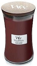 Parfémy, Parfumerie, kosmetika Vonná svíčka ve sklenici - WoodWick Hourglass Candle Black Cherry