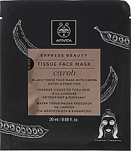 Parfémy, Parfumerie, kosmetika Látková detoxikační maska - Apivita Express Beauty Tissue Face Mask Carob