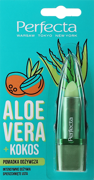 Vyživující hygienická rtěnka Aloe vera a kokos - Perfecta Aloe Vera + Coconut — foto N1