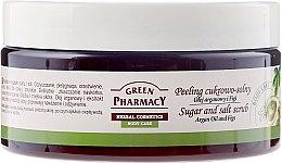 Parfémy, Parfumerie, kosmetika Cukrovo-solný peeling Argan a Fig - Green Pharmacy