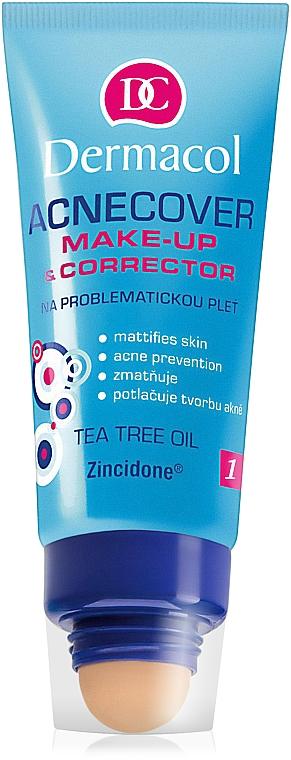 Make-up s korektorem - Dermacol Acnecover Make-Up and Corrector