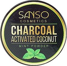 Parfémy, Parfumerie, kosmetika Mátový bělicí zubní prášek - Sanso Cosmetics Charcoal Activated Coconut Mint Powder