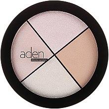 Parfémy, Parfumerie, kosmetika Rozjasňovač na obličej - Aden Cosmetics Highlighter Palette
