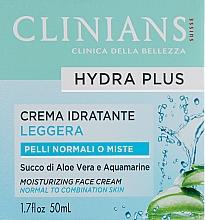 Parfémy, Parfumerie, kosmetika Denní pleťový krém - Clinians Crema Idratante Giorno Minerali Acqua Vegetale di The Bianco