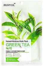 Parfémy, Parfumerie, kosmetika Hydratační látková pleťová maska s extraktem ze zeleného čaje - Eunyul Natural Moisture Mask Pack Green Tea