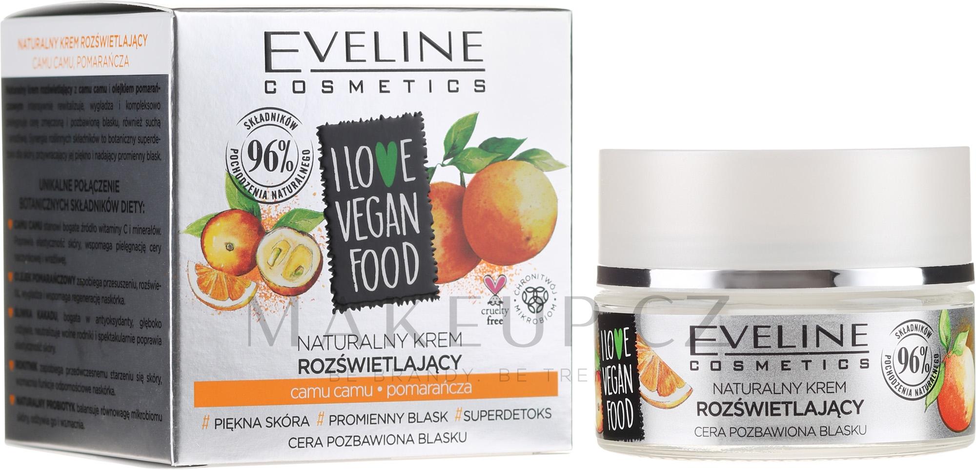 Krém na obličej Kamu Kamu a pomeranč - Eveline I Love Vegan Food Face Kream — foto 50 ml