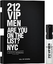 Parfémy, Parfumerie, kosmetika Carolina Herrera 212 VIP Men - Toaletní voda (vzorek)