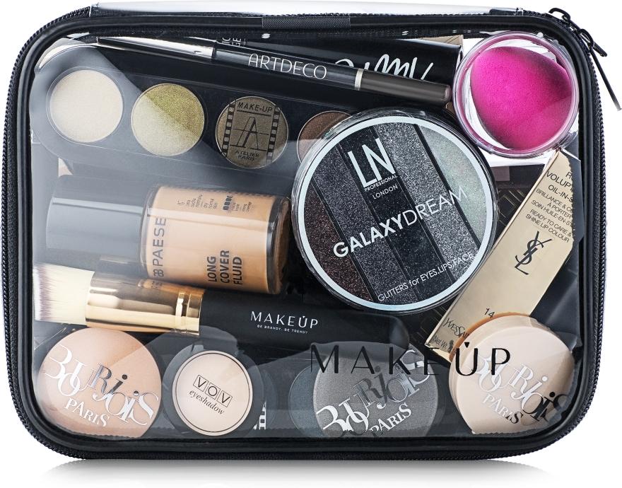 """Transparentní kosmetická taštička """"Visible Bag"""" 20x15x6cm (bez kosmetických prostředků) - MakeUp"""