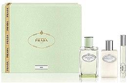 Parfémy, Parfumerie, kosmetika Prada Infusion D'Iris - Sada (edp/100ml + + b/lot/100ml + edp/mini/10ml)