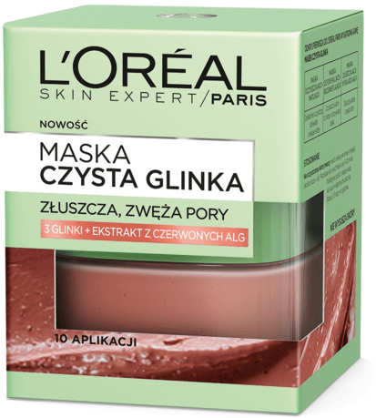 Maska-scrub s přírodním jílem a červenými řasami - L'Oreal Paris Skin Expert — foto N1