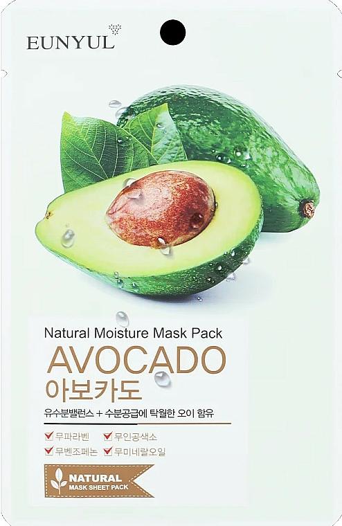 Látková pleťová maska s avokádem - Eunyul Natural Moisture Mask Pack Avocado