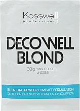 Parfémy, Parfumerie, kosmetika Zesvětlující prášek, modrý - Kosswell Professional Decowell Blond