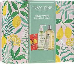 Parfémy, Parfumerie, kosmetika Sada - L'Occitane Energizing Ritual (f/scr/6ml + micel/water/200ml + sh/gel/250ml + h/cr/30ml)