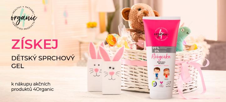 Kup šampon-gel 4Organic a získej dětský sprchový gel jako dárek