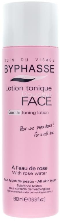 "Lotion-tonikum na obličej ""Růžová voda"" - Byphasse Gentle Toning Lotion With Rosewater All Skin Types"