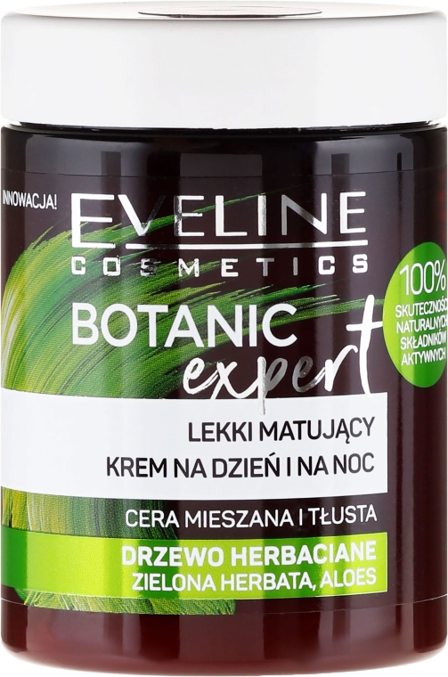 Krém na obličej - Eveline Cosmetics Botanic Expert With Tea Tree Day & Night Cream