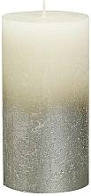 Parfémy, Parfumerie, kosmetika Svíčka v ivory barvě, 130x68 mm - Bolsius Metallic Candle