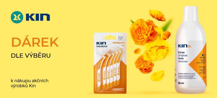 K nákupu akčních výrobků Kin získej dárek dle výběru: mezizubní nebo zubní kartáček