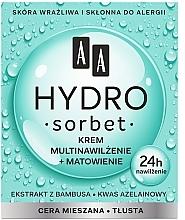 Parfémy, Parfumerie, kosmetika Matujícíc multi-hydratační krém na obličej - AA Hydro Sorbet Moisturising & Mattifying Cream