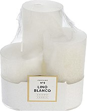 Parfémy, Parfumerie, kosmetika Sada vonných svíček - Artman Glass Classic Perfume №8 Lino Blanco Candle (candle/3pc)