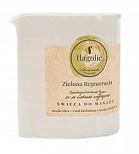 Parfémy, Parfumerie, kosmetika Masážní svíčka Obnovující zelená - Flagolie Green Regeneration Massage Candle