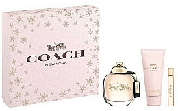 Parfémy, Parfumerie, kosmetika Coach New York Eau De Parfum - Sada (edp/90ml + b/lot/100ml + edp/7.5ml)