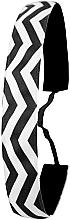 Parfémy, Parfumerie, kosmetika Čelenka, černo-bílá - Ivybands Chevron Black White Hair Band