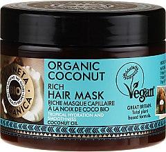 Parfémy, Parfumerie, kosmetika Hydratační maska na vlasy - Planeta Organica Organic Coconut Rich Hair Mask