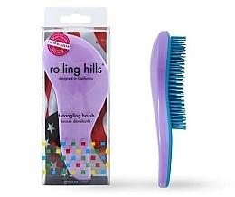 Parfémy, Parfumerie, kosmetika Kartáč na vlasy, světle fialový - Rolling Hills Detangling Brush Travel Size Light Purple