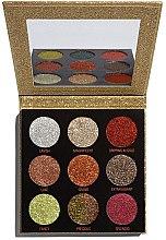 Parfémy, Parfumerie, kosmetika Paleta očních stínů se třpytkami - Makeup Revolution Pressed Glitter Palette Midas Touch