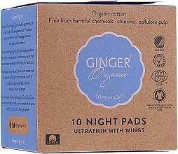 Parfémy, Parfumerie, kosmetika Noční hygienické vložky, 10 ks - Ginger Organic