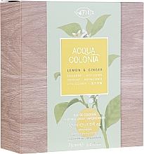 Parfémy, Parfumerie, kosmetika Maurer & Wirtz 4711 Aqua Colognia Lemon & Ginger - Sada  (edc/50ml + sh/gel/75ml)