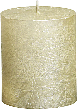 Parfémy, Parfumerie, kosmetika Válcová svíčka Metallic Ivory, 80/68 mm - Bolsius Candle