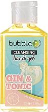 """Parfémy, Parfumerie, kosmetika Antibakteriální čisticí gel na ruce """"Gin s tonikem"""" - Bubble T Cleansing Hand Gel Gin & Tonic"""