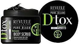 Parfémy, Parfumerie, kosmetika Scrub na tělo - Revuele Pure Black Detox Volcanic Body Scrub
