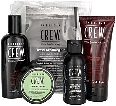 Parfémy, Parfumerie, kosmetika Sada - American Crew Travel Grooming Kit (gel/100 ml + cr/50 g + sh/gel/100 ml+ sh/cr/50 ml)