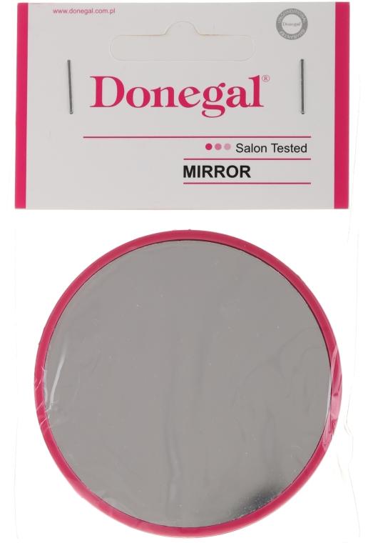 Kompaktní kulaté zrcátko, 7 cm, malinové - Donegal