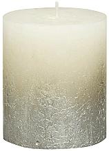 Parfémy, Parfumerie, kosmetika Válcová svíčka, slonová kost, 80x68 mm - Bolsius Metallic Candle