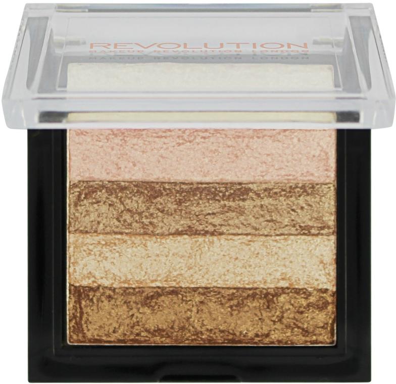 Rozjasňovač na obličej - Makeup Revolution Shimmer Brick — foto N2