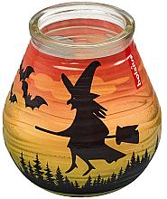 Parfémy, Parfumerie, kosmetika Dekorativní svíčka ve skle Patiolight Bat and Witch, 94/91 mm - Bolsius Candle