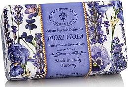 Parfémy, Parfumerie, kosmetika Prírodní mýdlo Fialové květiny - Saponificio Artigianale Fiorentino Purple Flowers Scented Soap