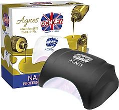 Parfémy, Parfumerie, kosmetika Lampa na nehty LED, černá - Ronney Profesional Agnes LED 48W (GY-LED-032)