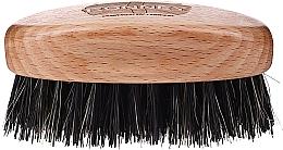Parfémy, Parfumerie, kosmetika Dřevěný kartáč na vousy s přírodními štětinami, světlý - Ronney Professional Barber Small Brush