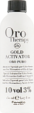 Parfémy, Parfumerie, kosmetika Oxidační činidlo s mikročásticemi zlata 3% - Fanola Oro Gold