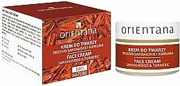 """Parfémy, Parfumerie, kosmetika Krém na obličej """"Santalové dřevo a kurkuma"""" - Orientana Face Cream Sandalwood & Turmeric"""