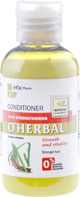 Balzám-kondicionér k posílení vlasů s extraktem kořenů calamus - O'Herbal