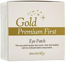 Parfémy, Parfumerie, kosmetika Maska na oční kontury - Secret Key Gold Premium First Eye Patch