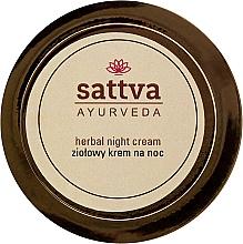Parfémy, Parfumerie, kosmetika Bylinný noční krém - Sattva Ayurveda Herbal Night Cream