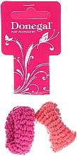 Parfémy, Parfumerie, kosmetika Gumička do vlasů 2 ks, růžová a oranžová - Donegal Ponytail Holder Woolly
