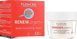 Parfémy, Parfumerie, kosmetika Výživný krém na obličej - Floslek Odnowa Argan+ 50+